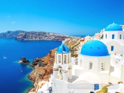 산토리니에서 1박 자유일정+ 내륙에서는 메테오라, 아테네 뿐 아니라 올림피아까지!