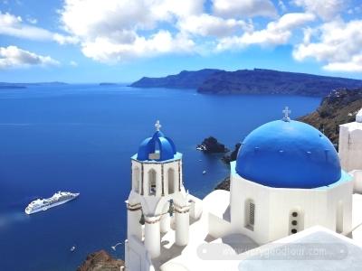 국적기 탑승 일정의 경우 그리스 북쪽 테살로니키와 산토리니2박 자유일정이 포함된 일정
