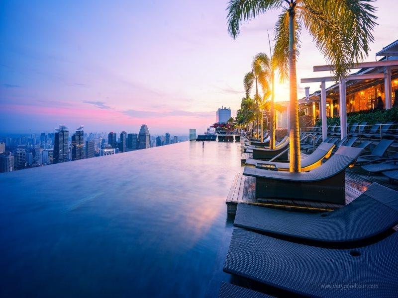 싱가포르 마리나베이샌즈 수영장