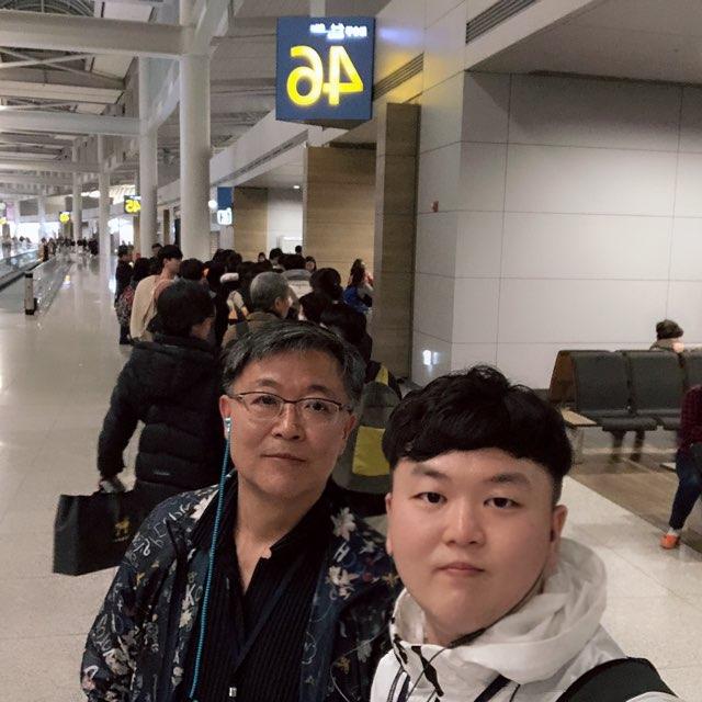 인천 국제공항에서 아부다비로 떠나는 비행기 기다리는 중!